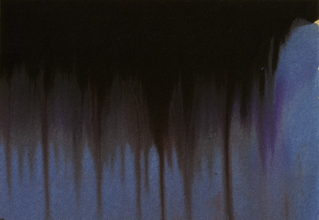 "FROM THE SERIES TREES MINIATURES, Oil and metallic powders on paper mounted on canvas, 4 x 6"", 2011"