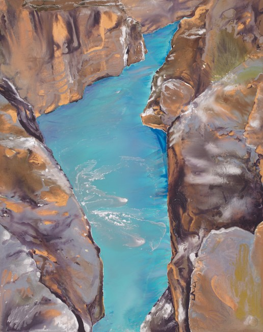 """FROM THE SERIES A ROCKY PLACE & SOURCE, Slice, Oil on bristol board mounted on linen, 29 x 23"""", 2011.jpg"""
